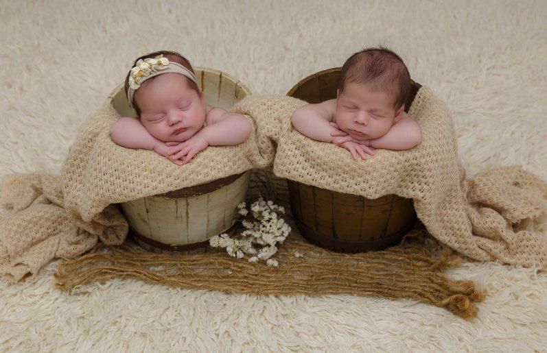 sesion newborn gemelos
